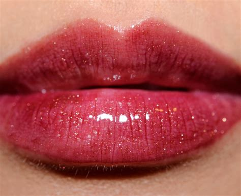 Lt Pro Glosy Lipstick 03 Brown brown plum gold high shimmer lip gloss review photos swatches