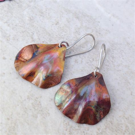 Handcrafted Copper Earrings - 21 leaf earring designs ideas models design trends