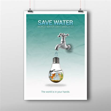 design poster save water poster design for save water on behance