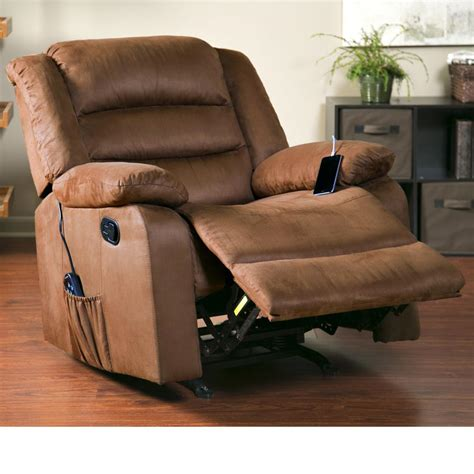rocker recliner with massage and heat com relaxzen massage rocker recliner with heat and