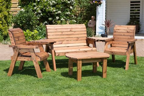 wooden garden table and bench set get your garden ready for summer with sustainable garden