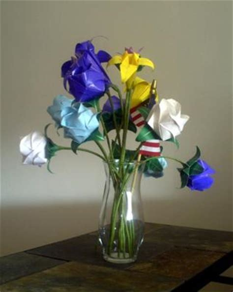 Origami Flower Arrangement - origami flower arrangement