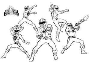 mighty morphin power rangers kids colouring pages