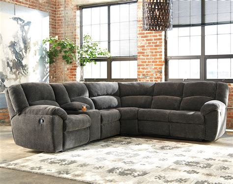 benchcraft timpson reclining sectional with storage