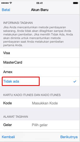 membuat apple id lewat iphone cara buat apple id tanpa kartu kredit lewat iphone ipad