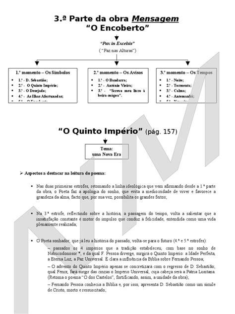 Análise - poemas III parte - O Encoberto | Daniel (Figura
