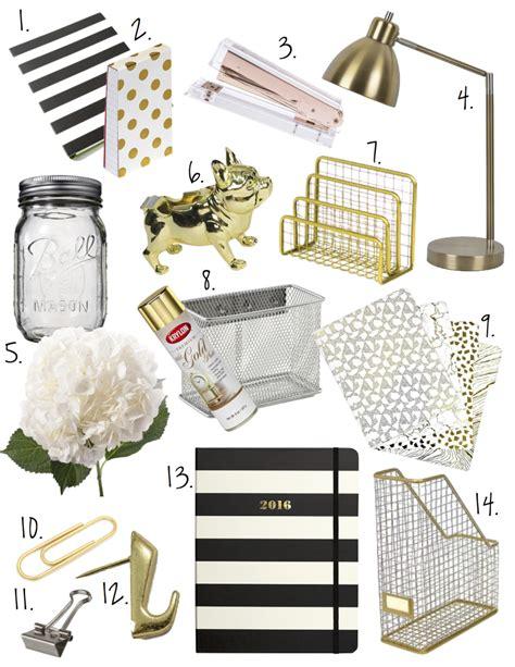 black and gold desk accessories black white gold office decor