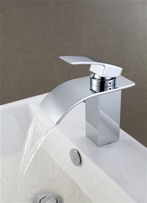 Modern Bathroom Taps New Monobloc Modern Chrome Bathroom Basin Sink Mixer Taps Waterfall Tap Ebay