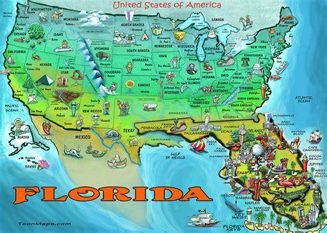 america map florida florida usa map by kevin middleton