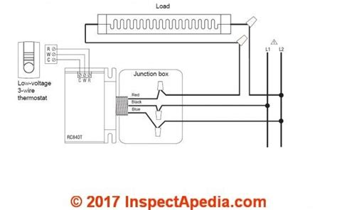 line voltage thermostat wiring diagram wiring diagram