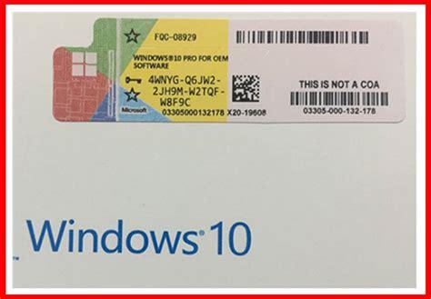 Windows 10 Pro Original Licence Key Serial Number Murah win10 pro genuine oem key 32 bit 64 bit win 10