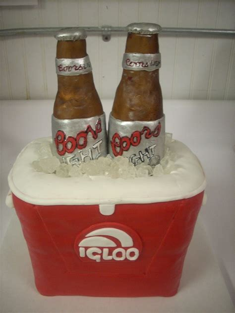 is coors light a rice beer carved igloo ice chest cake covered in fondant coors