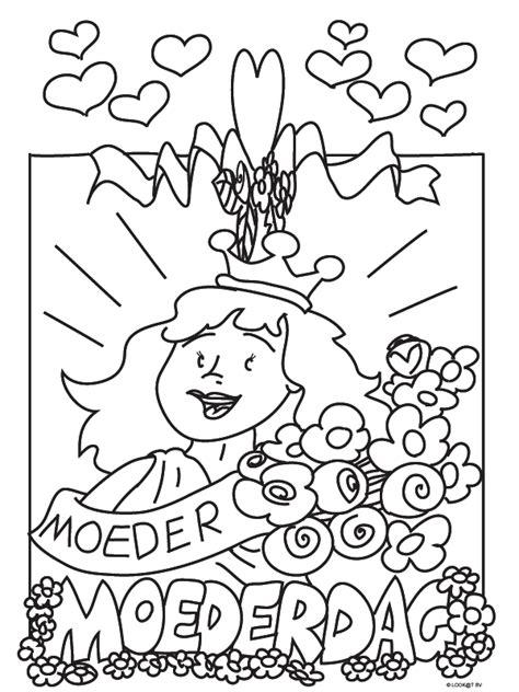 kleurplaat bloem moederdag kids n fun 40 kleurplaten van moederdag