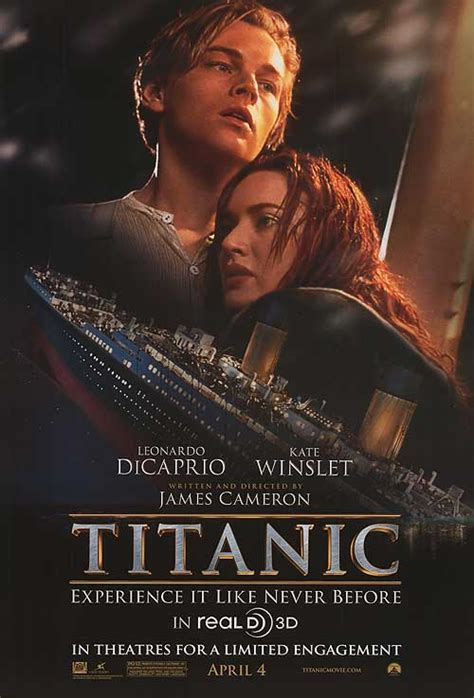 film titanic poster titanic 3d movie posters at movie poster warehouse