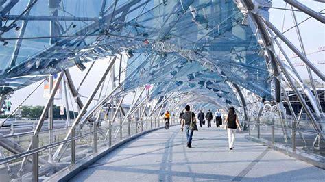 helix bridge the helix bridge marina bay singapore world for travel