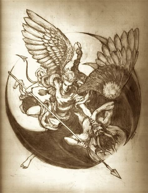 tattoo angel vs demon tattoo design angel vs demon recherche google creative