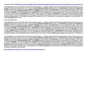 Nebraska Inheritance Tax Worksheet by Fillable Nebraska Probate Form 500 Inheritance Tax