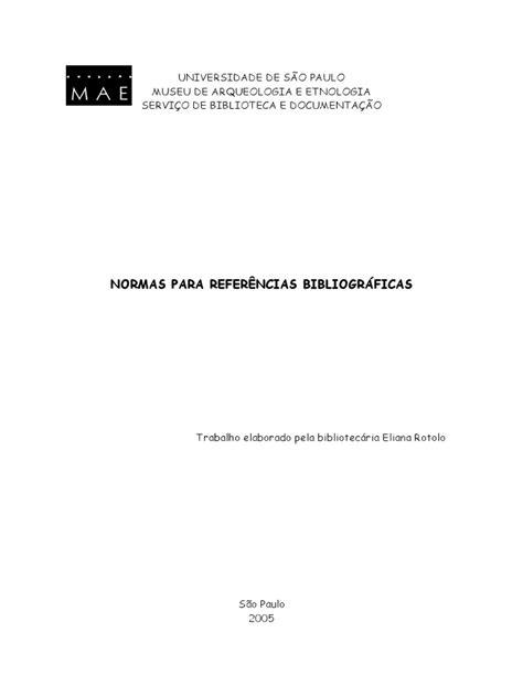 ROTOLO. Normas Para Referências Bibliográficas - ABNT