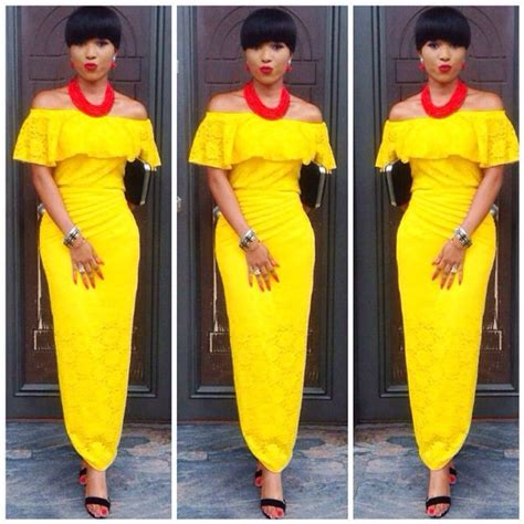 yellow fitted buba elegant and chic trendy iro and buba glam vol 8