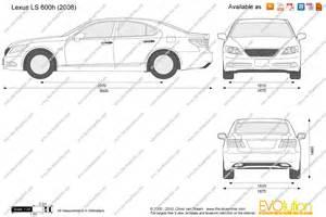 Lexus Is Dimensions The Blueprints Vector Drawing Lexus Ls