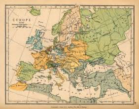 historical map map of europe 1730