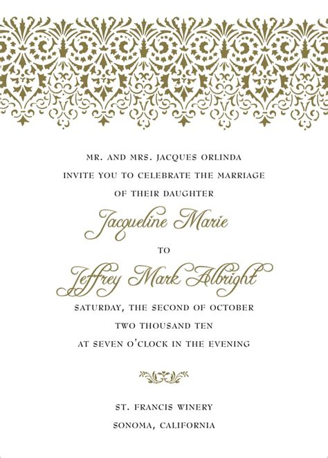 Wedding Invitation Wording Styles by Wording Wedding Invitations Theruntime