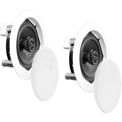 pyle pro pdic51rd 5 25 quot two way in ceiling speaker pdic51rd