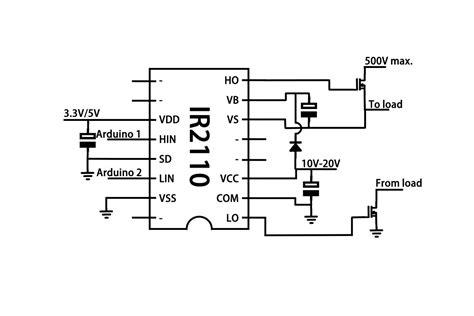 mosfet driver circuit diagram ir2110 mosfet driver circuit diagram circuit and