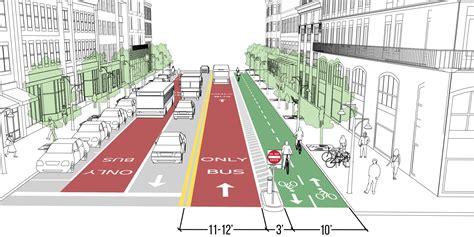 contraflow transit lane national association  city transportation officials