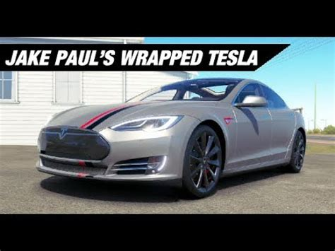 tesla jake paul inside jake paul s wrapped tesla build forza horizon 3 youtube