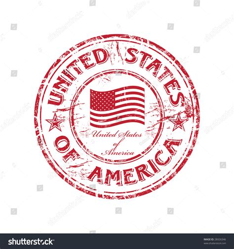 Find In Usa By Name Grunge Rubber St With The Flag Of Usa And The Name Of The United States Of