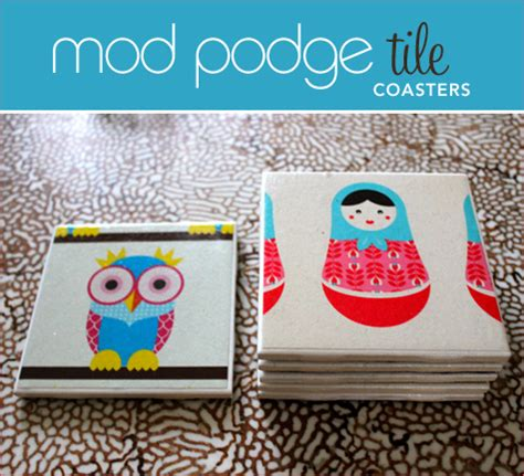 How To Make Coasters Out Of Tiles And Scrapbook Paper - diy tutorial mod podge tile coasters hostess with the
