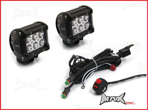 motorcycle led lights installation universal motorcycle 18 watt cree led spot driving