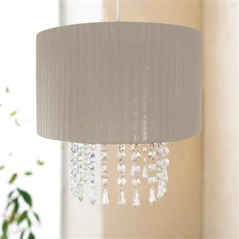 Chandelier Light Shade 30cm Easy Fit Chandelier Acrylic Pendant Ceiling Light Shade Fitting