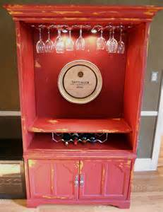 add some country repurposing an old entertainment center