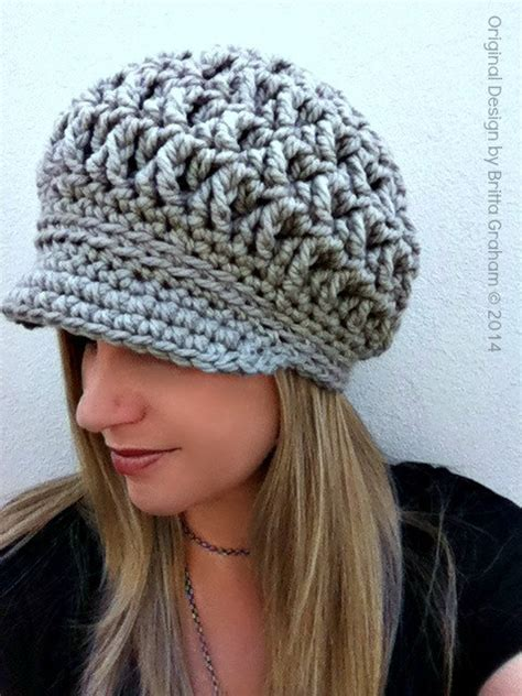 crochet hat pattern thick yarn newsboy crochet hat pattern for super bulky yarn the