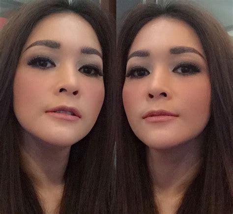 Make Up Bumiauw wajah maia estianty mey chan sama persis bisa bedakan