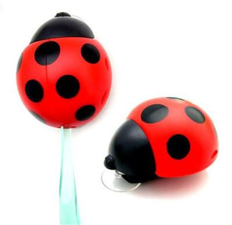 ladybugs in my bathroom ladybug toothbrush holder container rack with suction cups bathroom home decor ebay