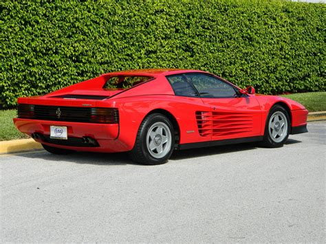 classic ferrari testarossa 1987 ferrari testarossa red black single lug 9800 original