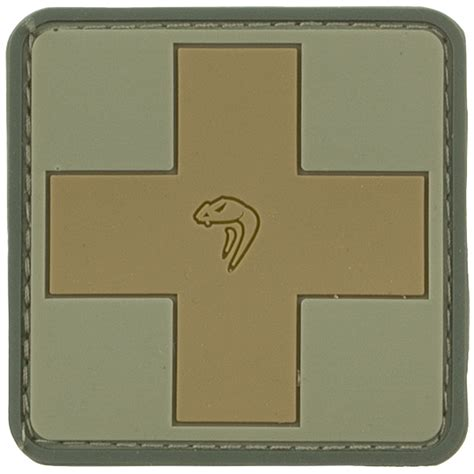 Patch Rubber Patch Rescue Airsoft viper medic rubber patch v badges patches