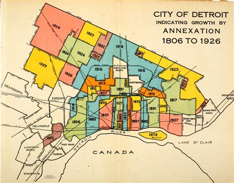 map color coded detroit growth by annexation detroitography