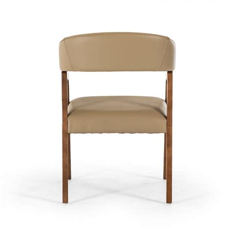 modrest clive modern taupe walnut dining chair dining