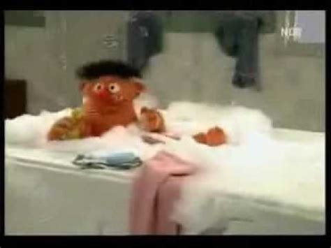 ernie in the bathtub sesame street quot rubber duckie quot remake youtube