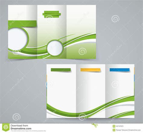 3 fold phlet template three fold brochure template corporate flyer or cover