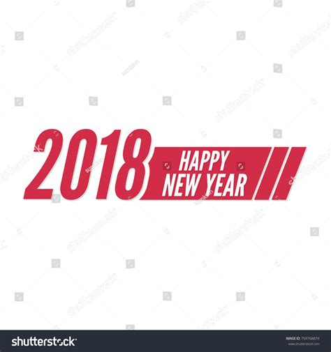 happy new year 2018 theme greeting stock vector 759768874
