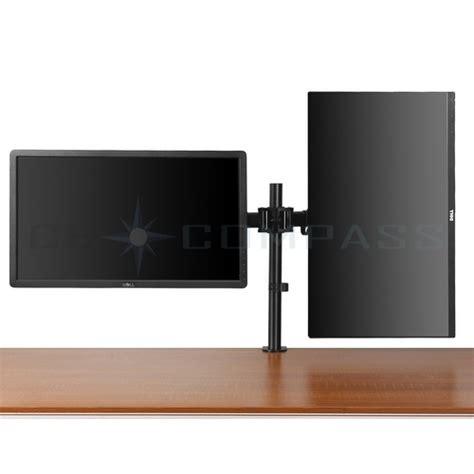 Samsung Tv Help Desk by Dual Monitor Mount Desk Stand Adjustable Arm Tilt Swivel