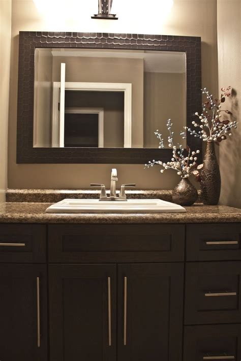 dark brown bathroom mirror best 25 brown painted cabinets ideas on pinterest farm