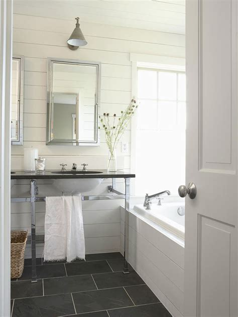 slate floor bathroom slate floor bathroom cottage bathroom bhg