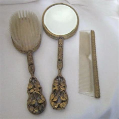 Vanity Set Brush Comb Mirror by 3 Brush Comb Mirror Vanity Set With Elaborate