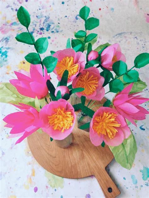 design flower paper diy project paper flower bouquet design sponge